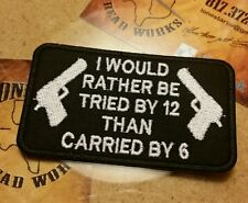 Tried by 12 motorcycle vest jacket patch