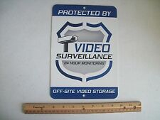 "Video Surveillance Security System 7"" x 10""  Metal Yard Sign - Stock # 715"