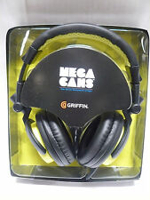 Griffin Mega Cans DJ-Style Over-the-Ear Headphones Yellow-Black (GC35522)
