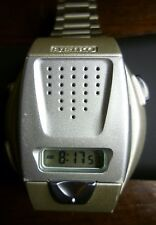 Seiko Japanese talking LCD watch with original Seiko stainless band A860 - 4100