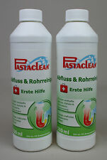 Pastaclean Abfluss- + Rohrreiniger ERSTE HILFE 2 x 500 ml  - DHL Versand