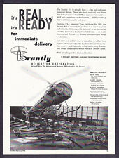 "1960 Brantly B-2 Helicopter photo ""It's Real & Ready"" vintage promo print ad"
