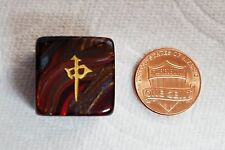 1~20mm MAHJONG WIND DIRECTION DIE w/CHINESE SYMBOLS - SCARAB BLUE BLOOD! LOVELY!