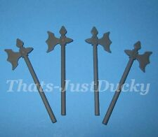 Lego minifig Dark Gray BATTLE AXE  Lot of 4 MINI FIG Battle Axes WEAPONS Tools