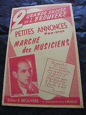 Partition Petites Annonces Marche des Musiciens  L Brouvère