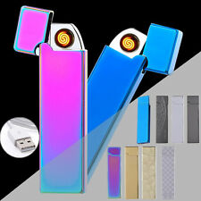 NEW Windproof USB Charging Tungsten Cigar Lighter GIFT Metal Electronic Lighters