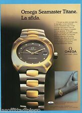 AIRONE985-PUBBLICITA'/ADVERTISING-1985- OMEGA - SEAMASTER TITANE