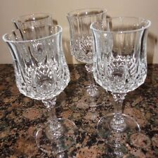 SET OF 4 CRYSTAL CRISTAL D'ARQUES LONG CHAMP CHAMPAGNE WINE GLASS FRANCE 6 1/2""