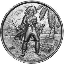 Elemetal The Captain Ultra High Relief Round 2 Oz .999 Silver Privateer #3