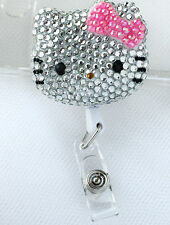 Hello Kitty Bling Retractable ID Badge Holder_ pink