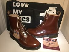 Bnwt! Sz9 England Dr. Martens Pascal Airwair Tan Leather Boots Eu43