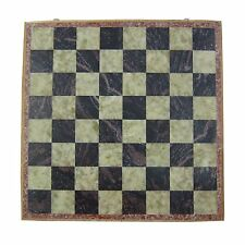 """12 X 12"""" Inches Indian Handmade Marble Stone Unique Chess Pieces and Board Set"""