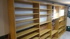 75 ft solid maple wood vintage book shelves Denver Colorado school library MCM