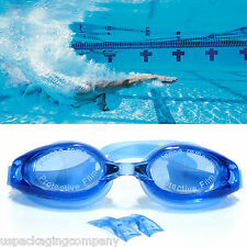 Blue Professional Grade Swimming Goggles Competition Race Glasses Goggle