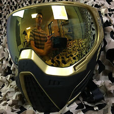 NEW HK Army KLR Dual Pane Thermal Anti-Fog Paintball Mask Goggle - Metallic Gold