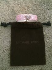 Michael Kors Pink Leather Pavé Pyramid Bracelet NWT MSRP $125.00