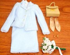 "Franklin Mint Princess Diana 16"" Doll Blue Boucle Fashion Outfit Ensemble #C"