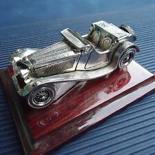 Voiture Ancienne Collection Socle Bois Fabrication Luxe Italie 11x 8,5 x 5 Cm  .