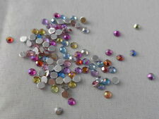 100 Glitzersteine / Rhinestones - Bunt 3 mm - Shiny Mix