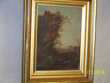 Hudson River School Original Oil On Canvas Landscape Frost & Adams Boston Frame