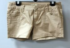 NEW WOMENS POCKET COTTON TURN UP STRETCH MOCHA SHORT SHORTS HOTPANTS UK SZ 8 36