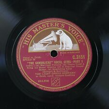 "12"" 78rpm THE GONDOLIERS vocal gems c.3151"
