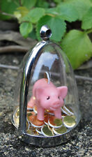 Taking piggy to the bank! necklace pig piggybank money box coins diorama