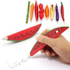 HOT Carrot animal Watermelon Strawberry Chilli Eggplant Orange Shaped Ball Pen #