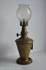 ANCIENNE LAMPE PIGEON CONIQUE A PLAQUE RAPPORTEE