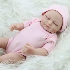 "CHEAP 11"" Handmade Newborn Baby Vinyl Silicone Realistic Reborn Doll Girl Gift T"