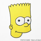 BART SIMPSON - Large Simpsons 'Bart Head' Iron-On Patch
