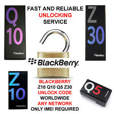 UNLOCK CODE FOR BLACKBERRY Z10 Z30 Q10 Q5 : Worldwide Any Network / FAST SERVICE