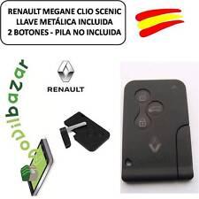 LLAVE CARCASA TARJETA RENAULT MEGANE CLIO SCENIC 3 TRES BOTONES CON LLAVE