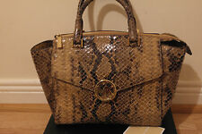 Michael Kors python bag genuine real leather  snake handbag bag beige rrp 350 £