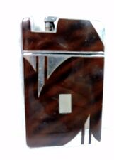 Antique Deco MARATHON Slide-A-Lite Lighter Cigarette Case Combination Engrave