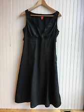 Esprit Black Sleeveless Cotton Flax Dress Size 8
