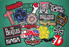 WHOLESALE BULK 20 PCS MUSIC PUNK HEAVY METAL &MIXED SEW IRON ON PATCH PATCHES*B