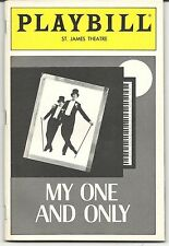 """""""MY ONE AND ONLY"""" BROADWAY PLAYBILL & STUB. DEC,,1983. W/ TWIGGY AND TOMMY TUNE."""