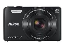 Nikon Coolpix S7000 16 MP Digital Camera (Black), 20x Zoom, Wi-Fi, USA Model