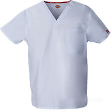 Dickies Scrubs Top UNISEX Men Women EDS Medical Scrub V-NECK Shirts Pocket 83706