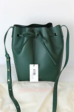 NEW Mansur Gavriel MINI Bucket Bag Tote Purse Moss/Moss 100% Auth FREE SHIPPING