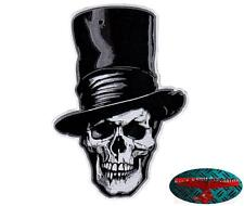 DEATH TOP HAT BIKER SKULL Patch groß Aufnäher Aufbügler Backpatch Harley Club 1%