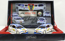FLY TEAM 08 ALFA 147 GTA CUP W/2 ALFA'S NEW 1/32 SLOT CARS IN DISPLAY BOX