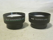 2 x lenses lens Tele Conversion & RCA Telephoto Japan mfg. w/ protective cover
