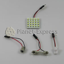 Panel 20 LED SMD C5W Festoon T10 W5W BA9S Maletero Interior.. Blanco Xenon placa
