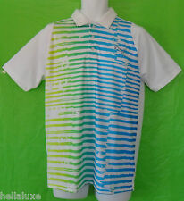 RARE~Puma Golf Performance DUO SWING STRIPE Polo RICKIE FOWLER TOUR Shirt~Mens S