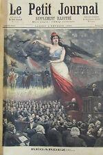 SEANCE PARLEMENT DEPUTES MARIANNE GUERRE ENNEMIS  GRAVURE PETIT JOURNAL 1893