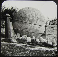 Glass Magic Lantern Slide THE GREAT GLOBE SWANAGE C1910 DORSET ENGLAND
