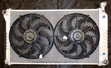 """3 ROW ALUMINUM RADIATOR W/ 14"""" FANS 1988-1999 CHEVY TRUCK 1500 V8 28"""" WIDE CORE"""