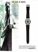 PUBLICITE ADVERTISING 074  1989  SWATCH  montre collection  LOVE FIELD